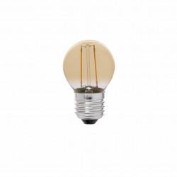 ampoule g45 e27 led 2w a filament ambre 2200k
