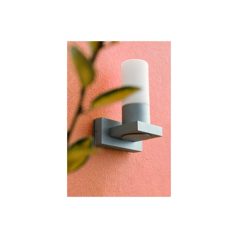 Applique ext rieur cylindre gris applique luminaire faro for Applique exterieur faro