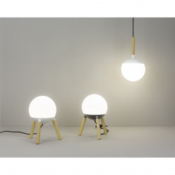 Suspension d�port�e design 3 boules blanches