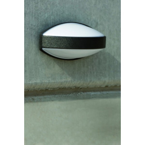Grande applique extérieur ovale grise foncée Faro