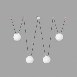 Suspension araign�e nordique 4 boules blanches