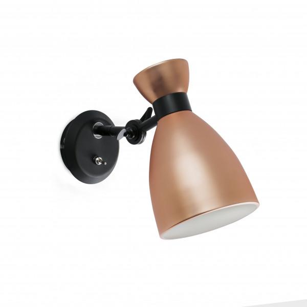 Applique cuivre design avec interrupteur