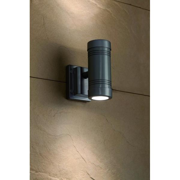 Applique extérieur cylindre gris Faro