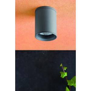 Applique extérieur rotative cylindre gris Faro