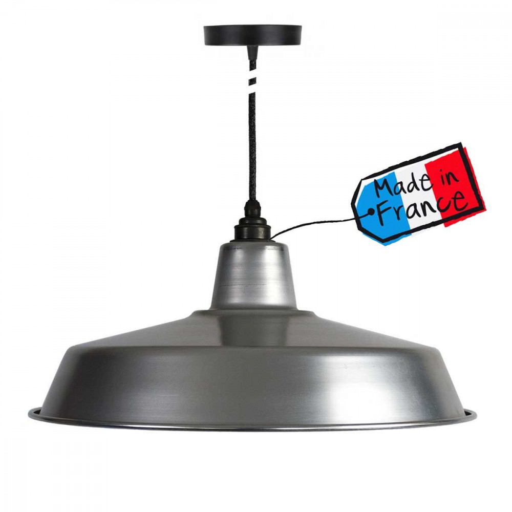 Grande suspension type atelier achat luminaire industriel for Suspension industrielle pour cuisine