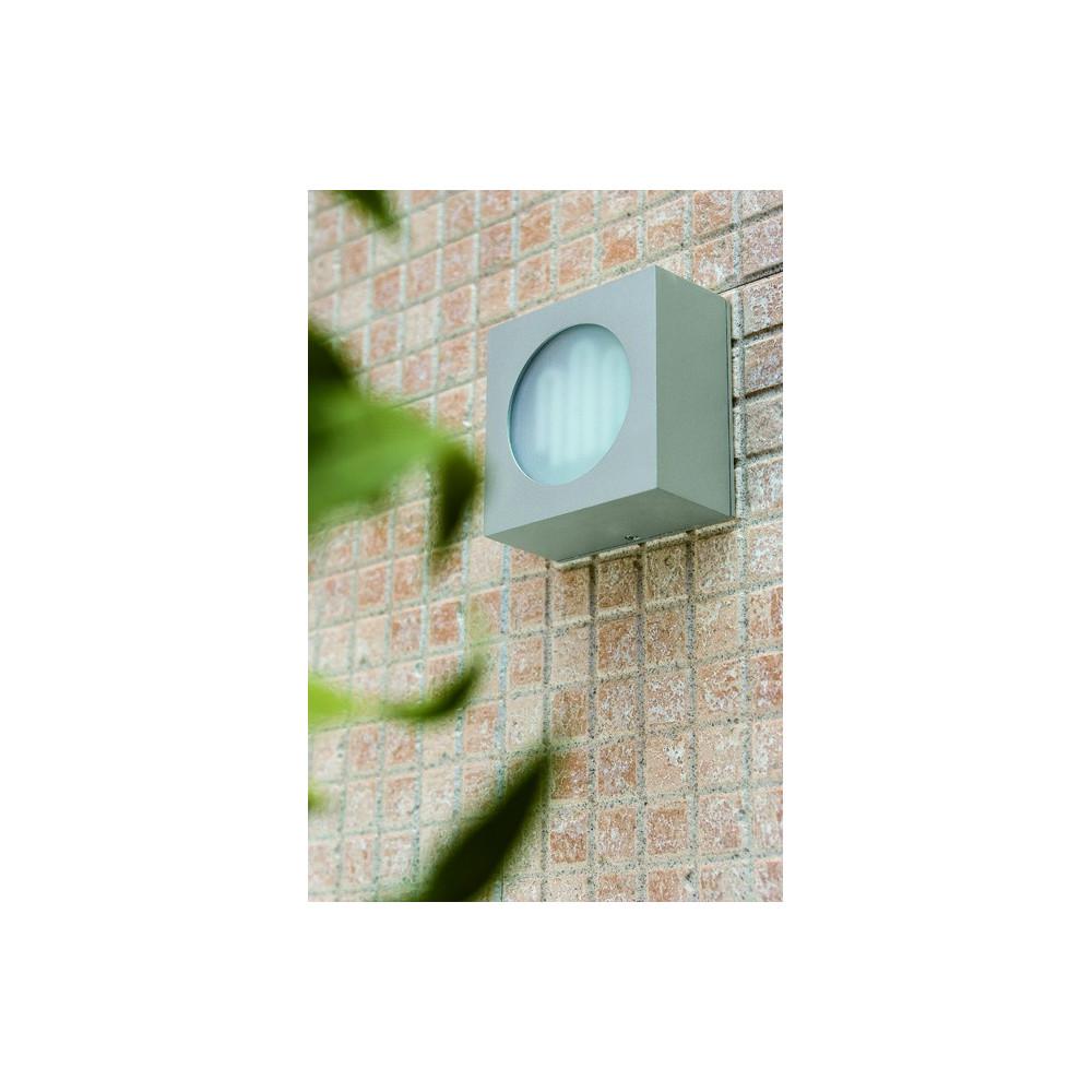 Applique cube grise ext rieur luminaire faro for Luminaire exterieur cube