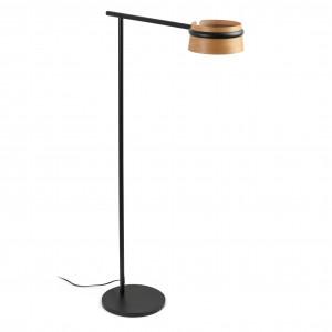 Lampadaire abat-jour bois LED 3 intensit�s