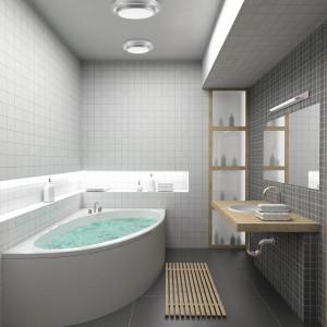 Pafonnier salle de bain gris