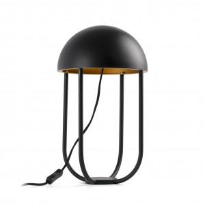 Lampe élégante noire et dorée