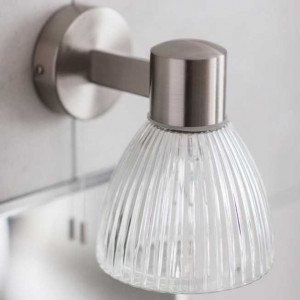 Applique salle de bain classique en verre