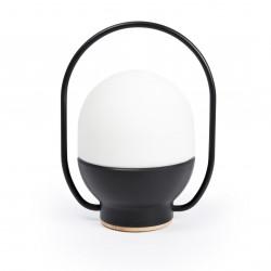 Lampe portable noire LED tactile