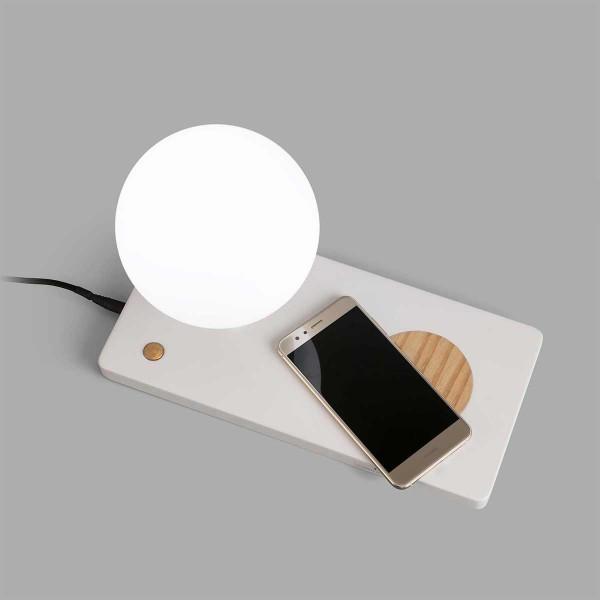 Lampe de chevet avec chargeur de portable