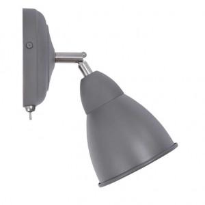 Applique avec interrupteur métal gris