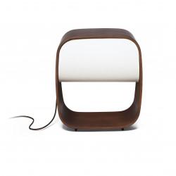 Lampe bois design avec variateur de lumi�re