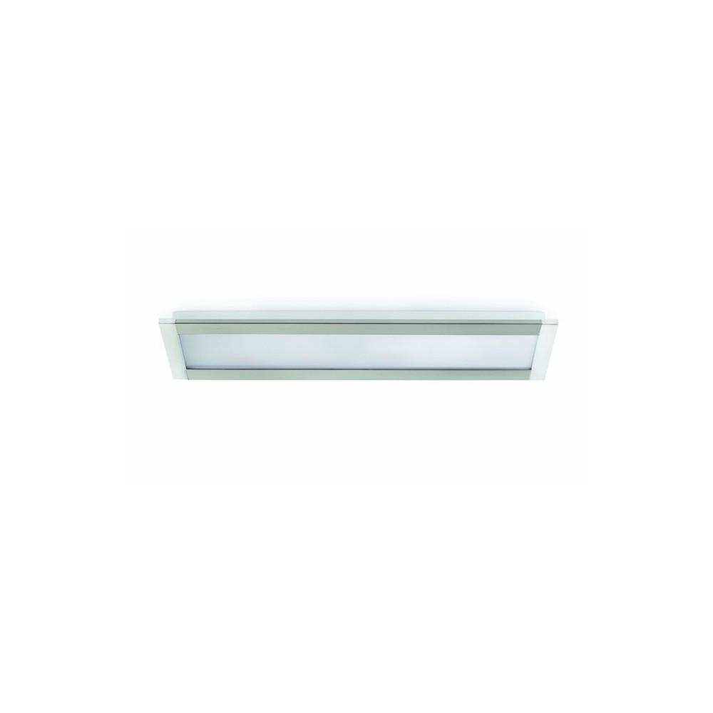 Beau plafonnier rectangulaire en nickel chrome sur lampe for Plafonnier rectangulaire design