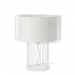 Lampe blanche fil de fer