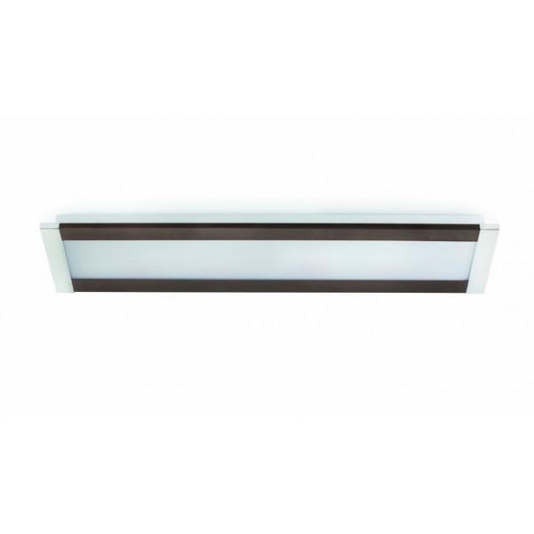 plafonnier rectangle marron chrome luminaire plafond. Black Bedroom Furniture Sets. Home Design Ideas