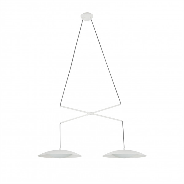 Suspension double blanche moderne