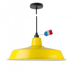 Suspension atelier jaune