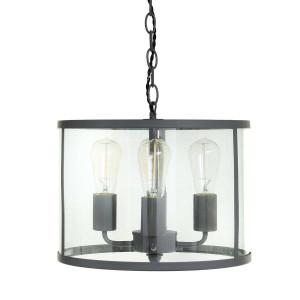 Suspension circulaire quatre ampoules en verre