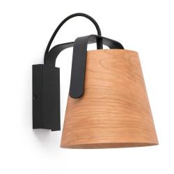 Applique chaleureuse noire et bois