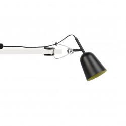 Lampe pince noire et cr�me