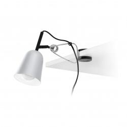 Lampe pince grise et blanche