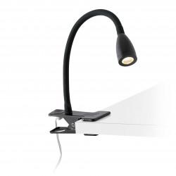 Lampe pince flexible noire
