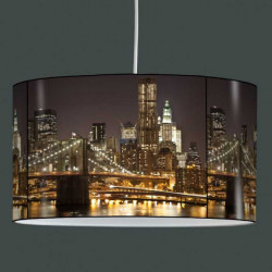 Suspension luminaire New York by night