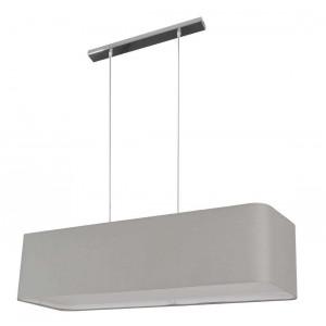 Grande suspension rectangulaire gris clair avec diffuseur