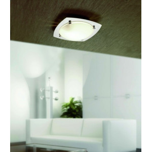Plafonnier design nickel Faro