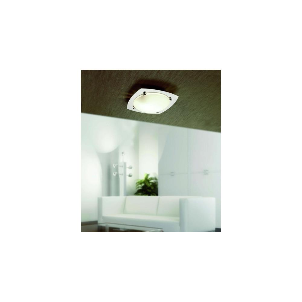 Plafonnier design nickel faro luminaire plafond lampe for Plafonnier exterieur design