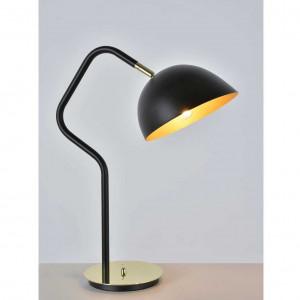 lampe noire et dorée
