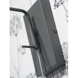 Applique gris foncé avec interrupteur et prise
