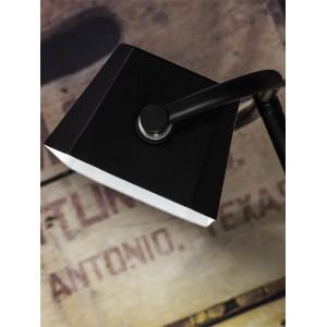 Lampe bois et métal noir vide poche