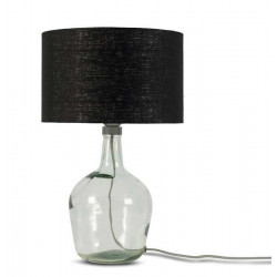 Lampe en verre abat-jour noir