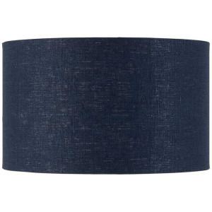 Abat-jour cylindrique lin bleu nuit