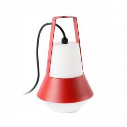Borne lumineuse portable rouge