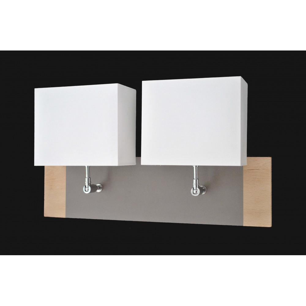 Applique murale bois double abat jour achat luminaire for Luminaire exterieur double