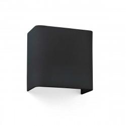 Applique coton carrée noire