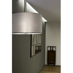 Suspension luminaire design chromée