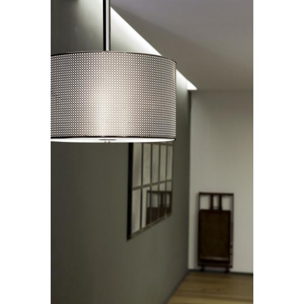Suspension luminaire design chromée