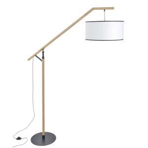 Lampadaire bois et métal