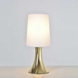 Lampe tactile dorée