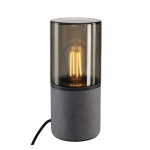 Lampe à poser extérieure avec verre fumé