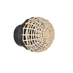Applique sphère en rotin