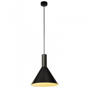 Suspension conique Phelia noire en aluminium Ø 27,5 cm