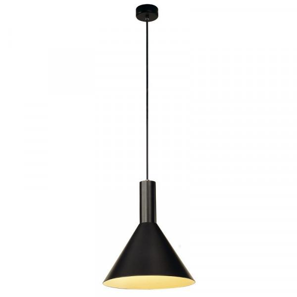 Suspension conique Phelia noire en aluminium Ø 28 cm