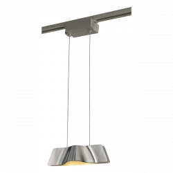 Suspension design Wave Pendant LED 3000K - Aluminium brossé