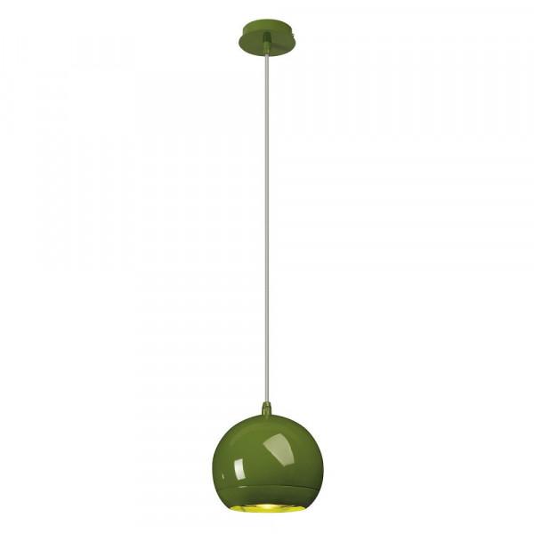 Suspension boule design Light Eye métal vert Ø 14.5 cm